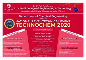 TECHNOCHEM 2020 – National Level Technical Event